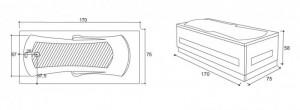 Poza Cada de baie Optima Model: 1700mm x 750mm x 450mm. Poza 10947